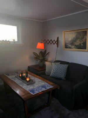 Koselig stue i Retrohuset i Bø